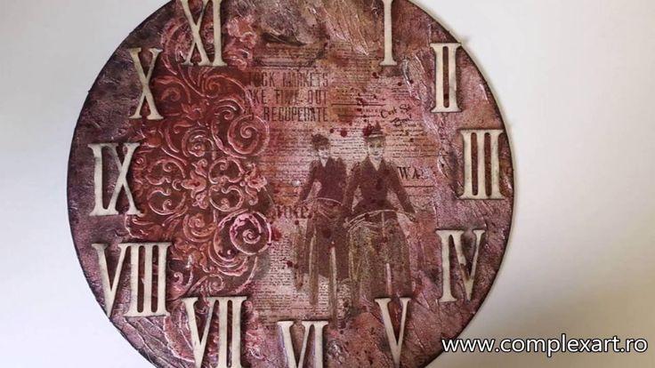 Vintage Clock - Cadran de ceas Vintage - Mixed Media & Decoupage