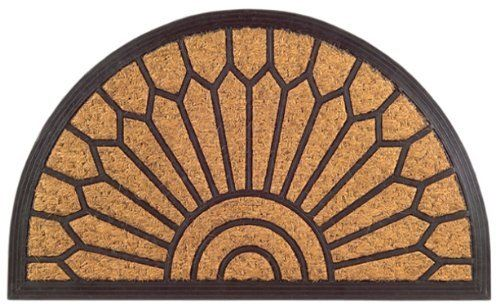 Imports Decor Half Round Rubber Back Coir Doormat, Lily Pattern, 18-Inch by 30-Inch by Imports Décor. $17.99. Measures 18-inch by 30-inch. Coir matting is economical. 100-percent coir matting. Vulcanized rubber prevents skidding. Molded into a variety of attractive designs. Welcome your guests with this attractive rubber back coir doormat from Imports Decor. Constructed of 100-percent coir matting which is molded with vulcanized rubber in an elegant lily design. Coir is the n...