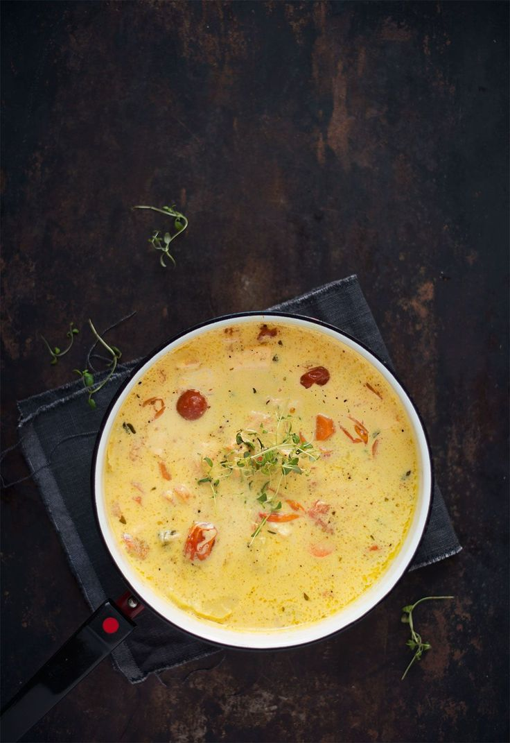 Opskrift: Suppe med laks og safran