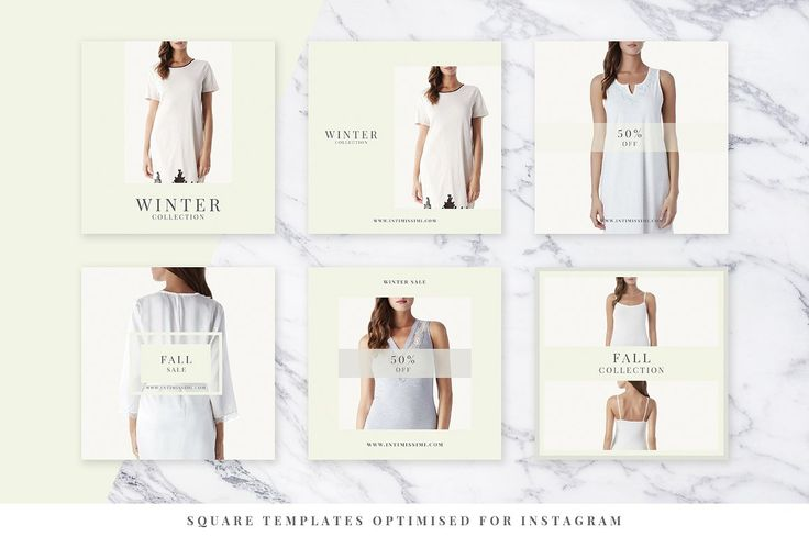 Light Fashion Instagram Pack - Web Elements - 2