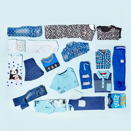 Shades of blue - kids fashion