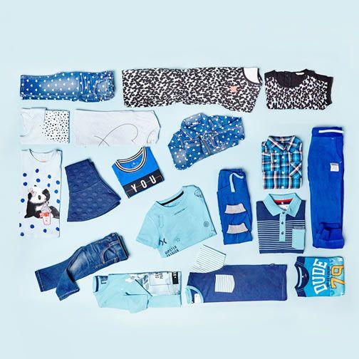Shades of blue - kids fashion