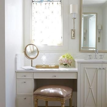 Double Bathroom Vanity With Makeup Station best 25+ bathroom makeup vanities ideas on pinterest | makeup