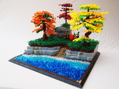 CCCX A Break by the lake: A LEGO® creation by Mark Erickson : MOCpages.com