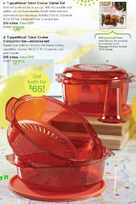 Lots of Tupperware Stack Cooker cake recipes!