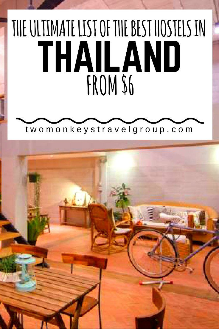 The Ultimate List of the Best Hostels in Thailand – From $6
