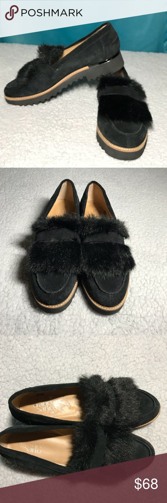 Franco Sarto Harriet Wedge Fur Loafers Black Sz 8 Franco Sarto Harriet Wedge Fur Loafers  Cyrus  Black  Size 8 EUC LIKE NEW Conditon Please see pictures for any flaws  OPEN TO ALL OFFERS!💕 BUNDLE YOUR LIKES AND I'LL SEND YOU AN OFFER! ✨ Franco Sarto Shoes Flats & Loafers