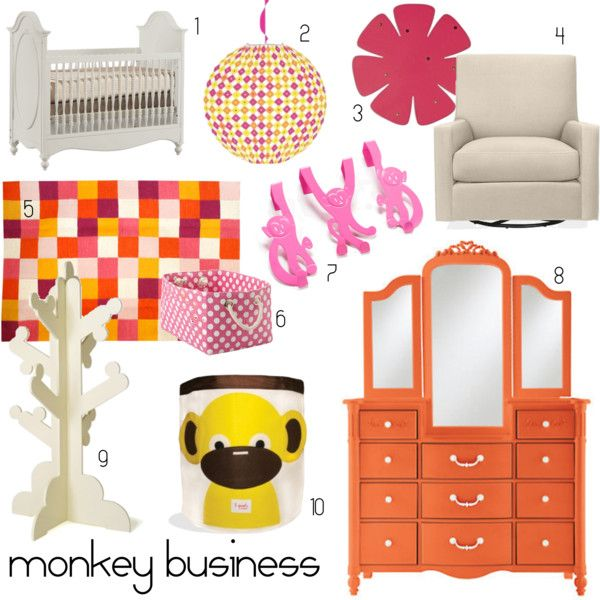 Bold & bright #nursery room elements with a little #monkey cuteness too!