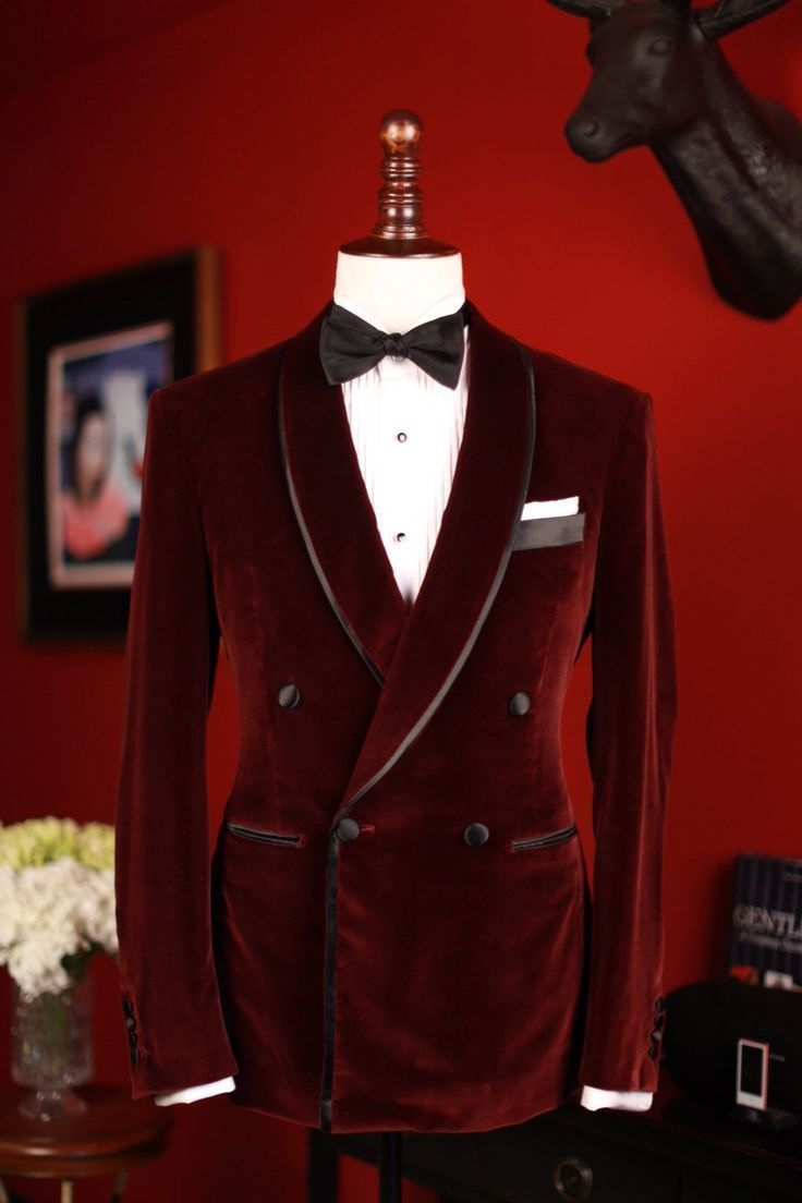 Men S Elegant Double Breasted Blazer Party Wear Maroon Velvet Dinner Jacket Coat Velvet Dinner Jacket Dinner Jacket Wedding Well Dressed Men
