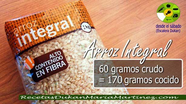 arroz integral  (sábado y domingo)