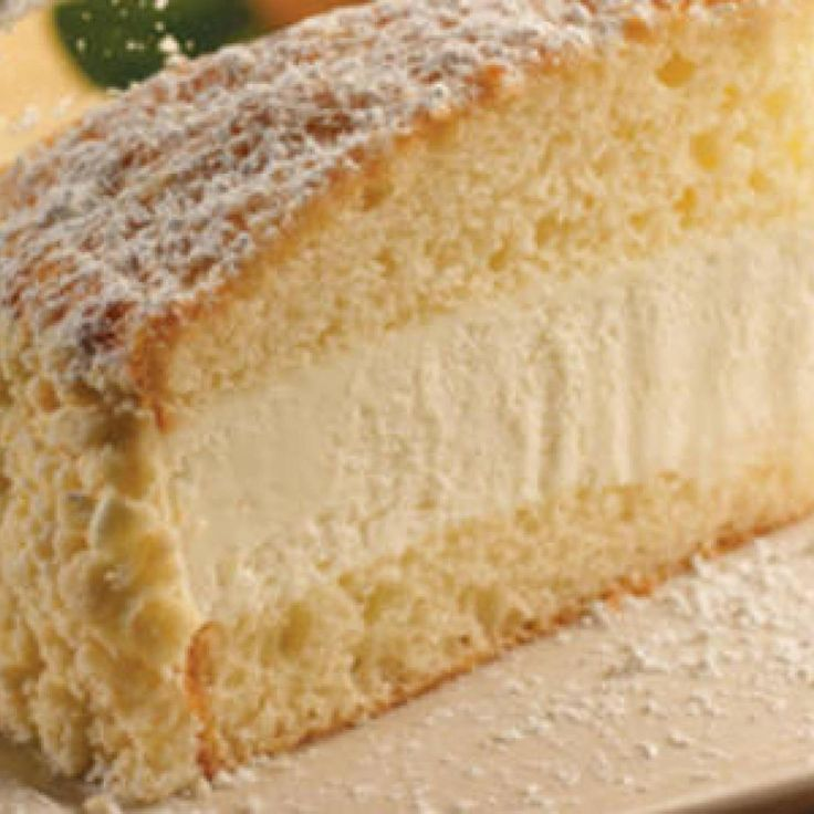 Copy cat recipe of Olive Garden's Lemon Cream Cake.