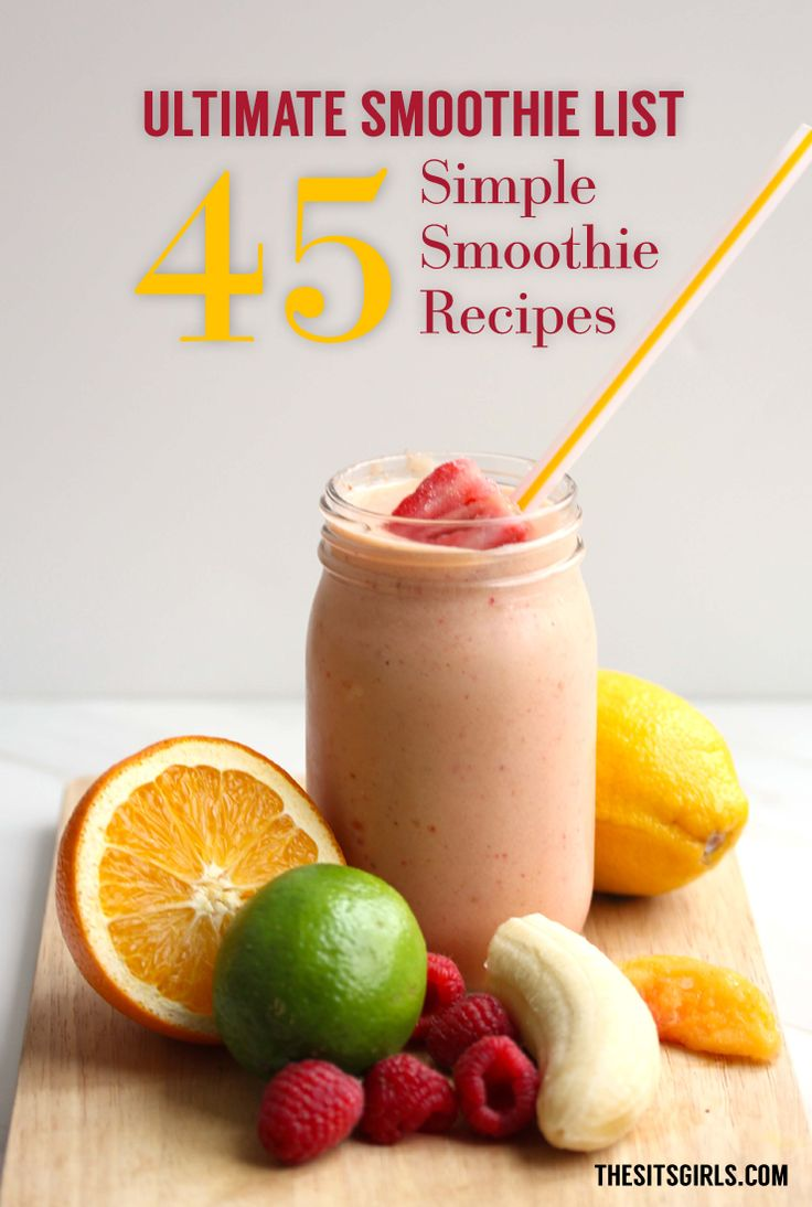These smoothie recipes are perfect for a meal or snack. They are filled with nutrients and vitamins and are super fast and easy to make!