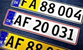 Danske  bil nummerplader #Danmark #nummerplader #Numberplates