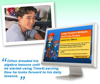 Time4Learning's online algebra program combines engaging lessons in a logical sequence to build a sound foundation for algebra. Each unit begins with multimedia lessons followed by interactive practice exercises. Printable worksheets offer additional practice and online assessments are available to parents in order to track progress.