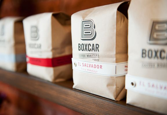Boxcar Coffee Roasters out in Boulder, Colorado. Beautiful & simple. #coffee #packaging #design