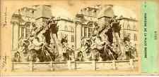 STEREO Furne Fils et H. Tournier, Rome La fontaine de la place  Navone Circa 1870