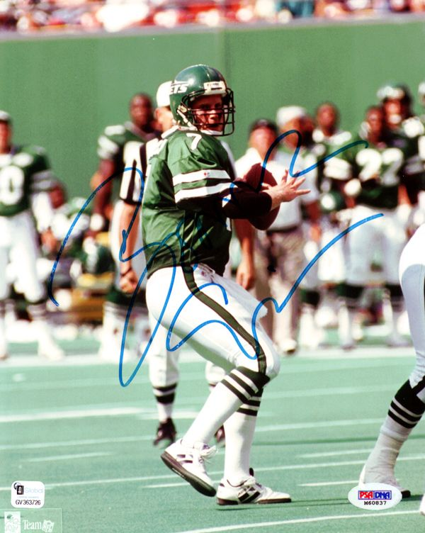 Boomer Esiason Autographed New York Jets 8x10 Photo PSA/DNA