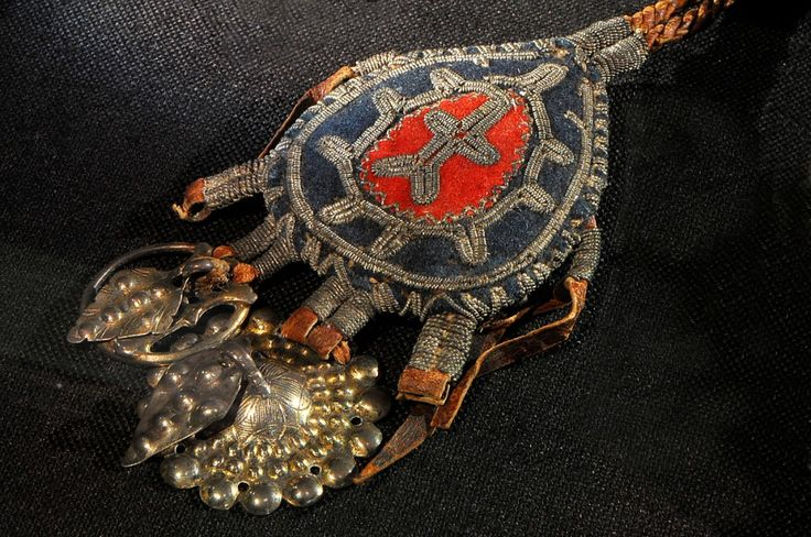 Sami amulet against evil powers. The Silver Museum (Silvermuseet), Arjeplog, Sweden.