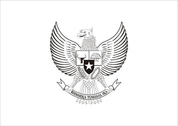 Logo Garuda Pancasila Hitam Putih Vector cdr dan Ai