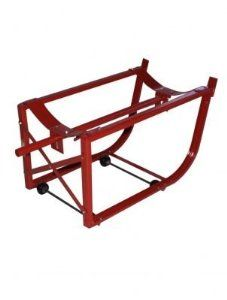 Milwaukee Hand Trucks 40158 55-Gallon Drum Cradle with Wheels by Milwaukee. $95.99. From the Manufacturer                This Milwaukee Drum Cradle has heavy-duty 1.25-Inch steel tubing, an 800-Pound load capacity, and holds 30 or 55 gallon drums. It simplifies storage, loading, unloading and on the job dispensing of 55 gallon steel drums. Cradle frame is channeled steel, cross-braced for rigidity. Non-sparking oil and chemical-resistant wheels mounted on the in...
