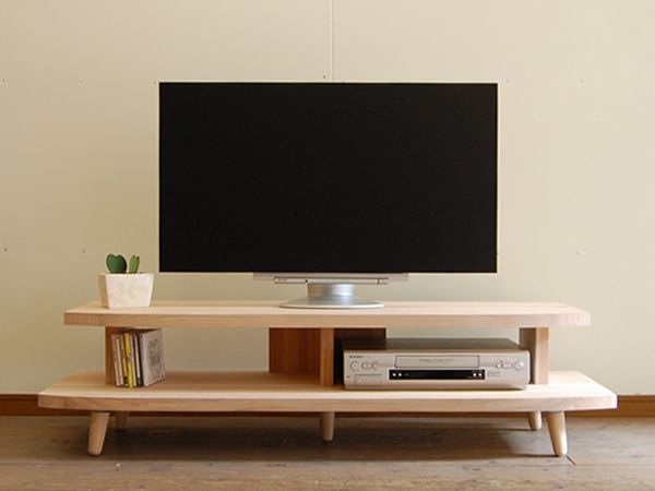 Domestic Television Units Solid Completed Snack Wooden TV Natural Wood Lowboard Legs 130 Cm 26 V 32 37 42 52