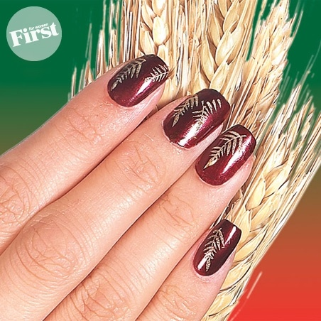 Lengthen Nails with a Wheat Stamp