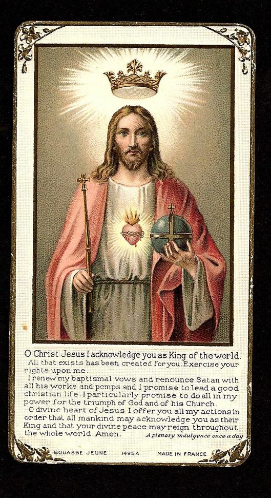 Christ Our King plenary indulgence
