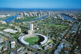 Aerial view of Brisbane