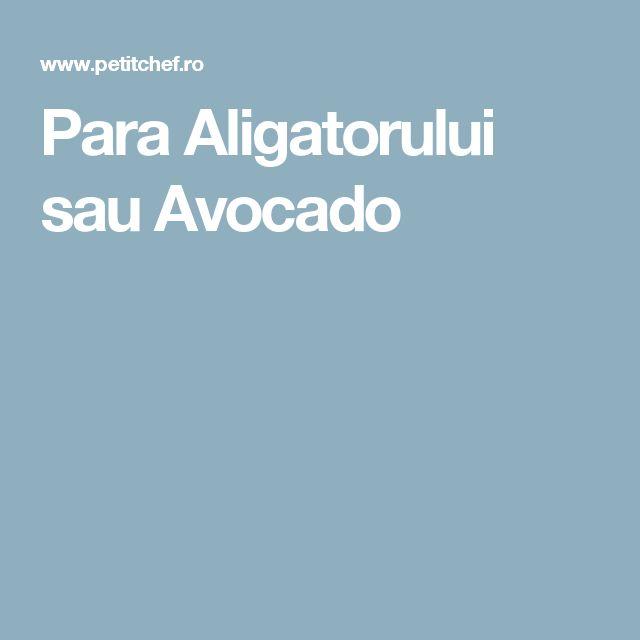 Para Aligatorului sau Avocado