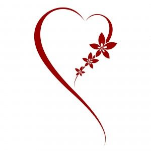Make the flowers into butterflies and the longer portion of the heart words...  Wonder if that would work?