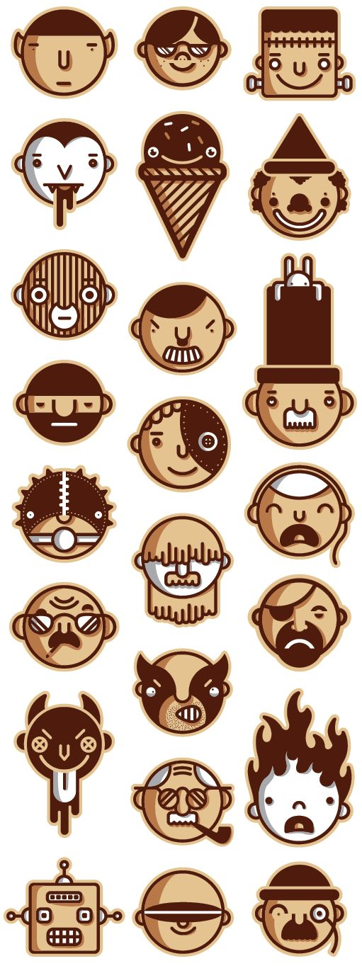 Personnages 2 by Patrick Seymour, via Behance