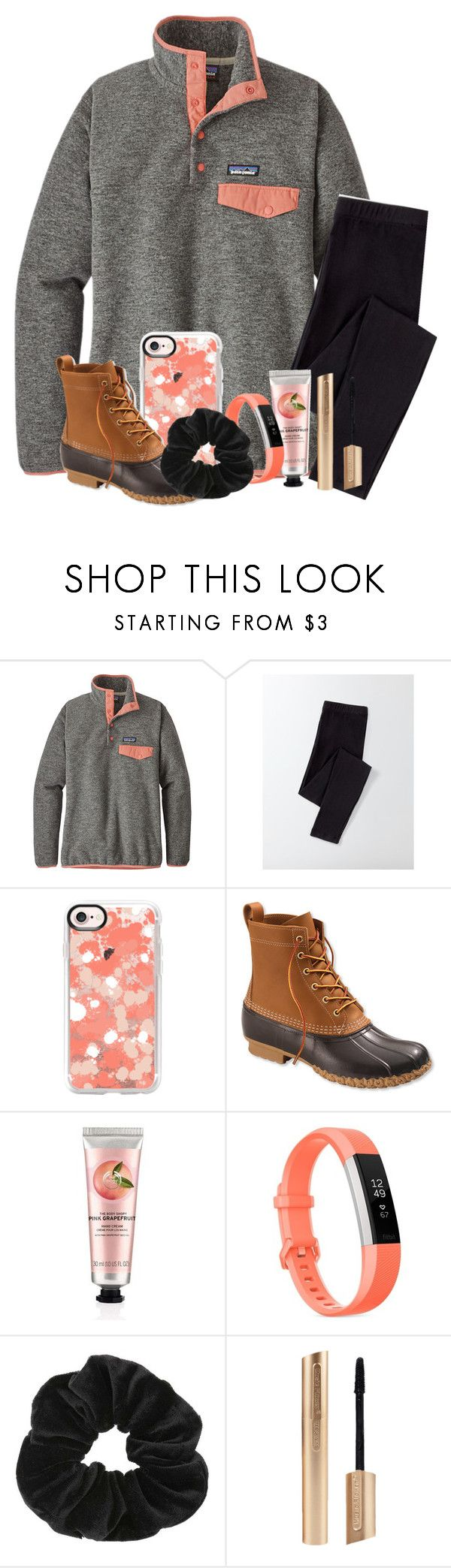 """Preppy girl"" by marymartinsonn ❤ liked on Polyvore featuring Patagonia, Boden, Casetify, L.L.Bean, The Body Shop, Fitbit and Miss Selfridge"