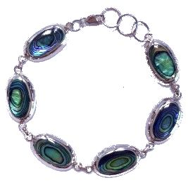Sterling Silver Bracelet with Paua Shell. See - http://www.comeandshop.com.au/collections/jewellery/Bracelet for the full range of Bracelets available from Come & Shop