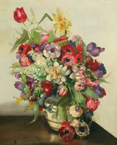Cecil Kennedy Still Life with Mixed Flowers 1929