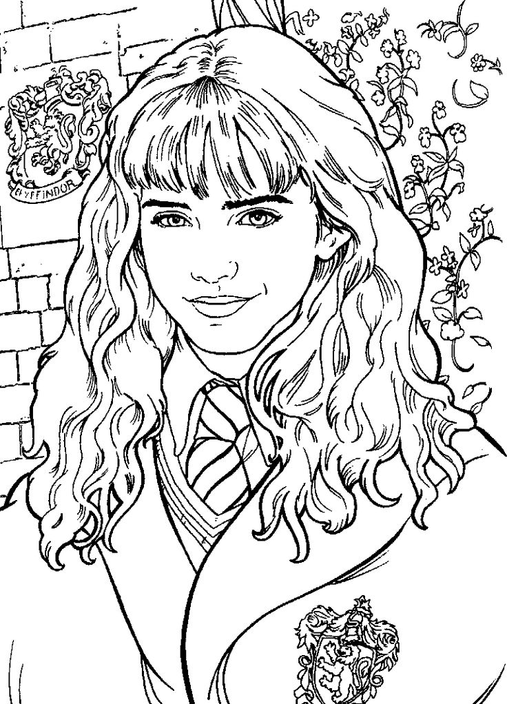 Harry Potter Coloring Book Cover ~ Best images about harry potter coloring pages on