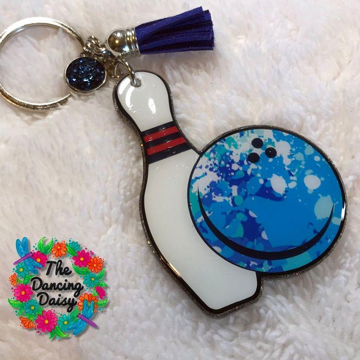 Bowling custom acrylic keychain etsy in 2020 keychain