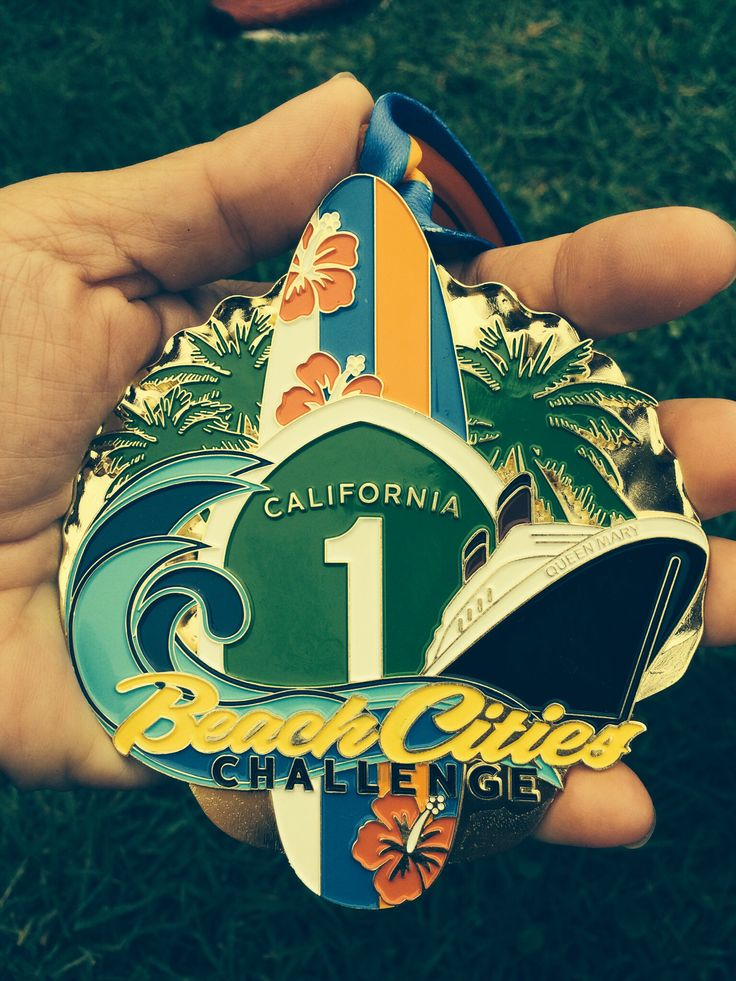 2014 City Beach Challenge Medal.  This one is big and nice.  Do 3 consecutive events: Surf City, OC and Long Beach.