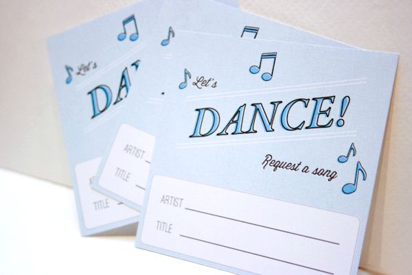 Printable Song Request Cards | photography by  (via @amiatead)