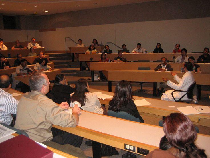 Talking to students at MIT, Boston USA