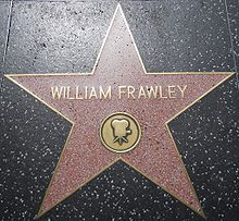 William Frawley's Star on the Hollywood Walk of Fame at 6322 Hollywood Blvd.
