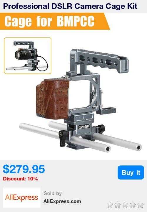 Professional DSLR Camera Cage Kit with 15mm Standard Rods for Black Magic Pocket Cinema Camera DMPCC * Pub Date: 21:29 Jul 10 2017