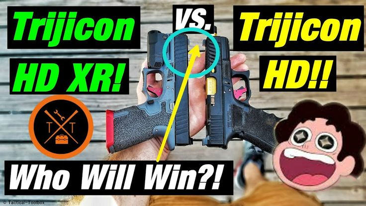 💥Best Night Sights For Home Defense⚡Trijicon HD XR vs HD!! - YouTube