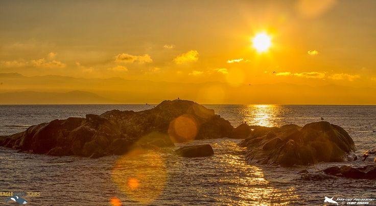 Sunset at Race Rocks