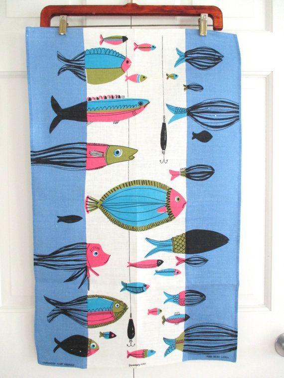 Vintage Mid Century Towel Fish at NeatoKeen on Etsy