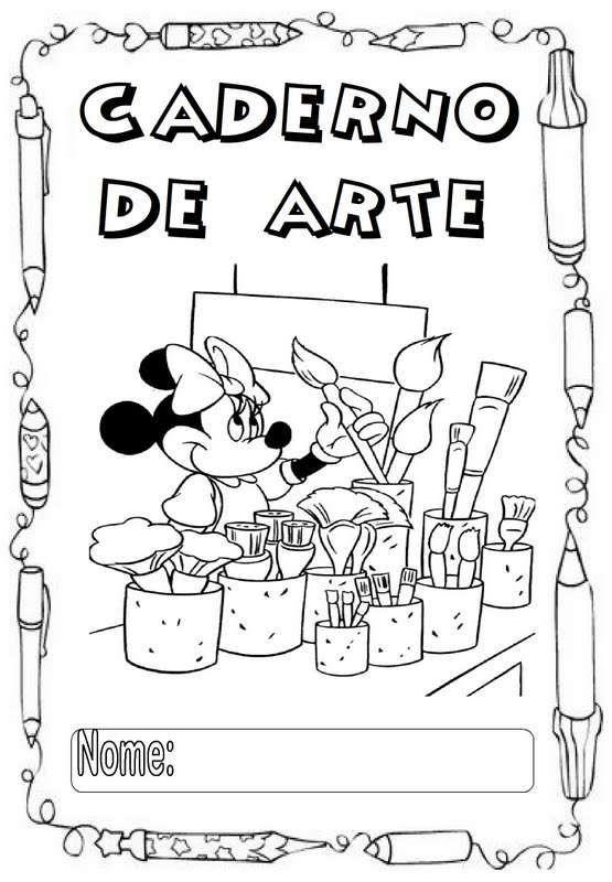 Desenhos Para Capa De Caderno Escolar Para Imprimir Caderno De