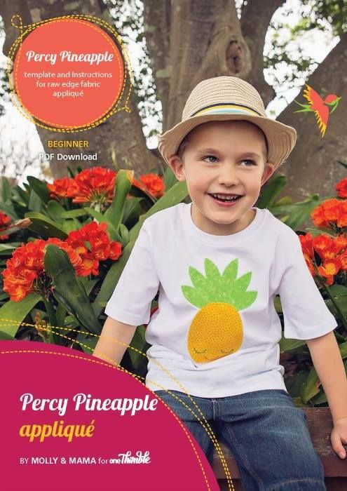 Percy Pineapple Applique Template by Molly and Mama