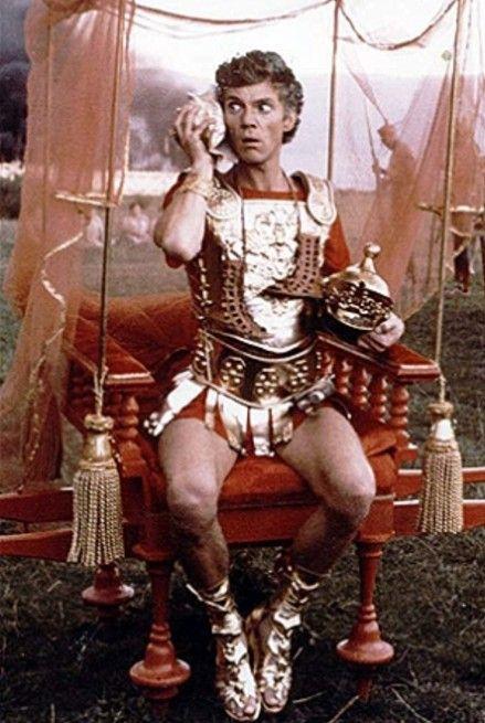 Malcolm McDowell as Emperor Caligula in Caligula.