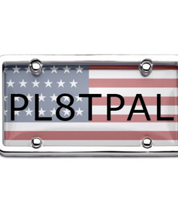 USA special license plate cover and frames