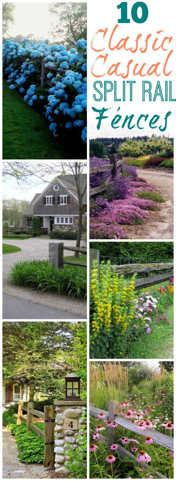 10 classic casual split rail fences at The Happy Housie