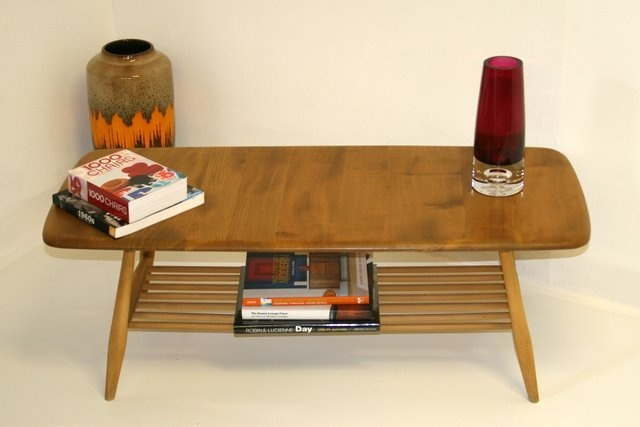 Ercol Coffee Table with book shelf.Solid Elm and Beech Wood.Refurbished.1960s | eBay